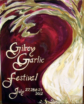 Garlic Party Decor Gilroy Garlic Festival Poster.jpg